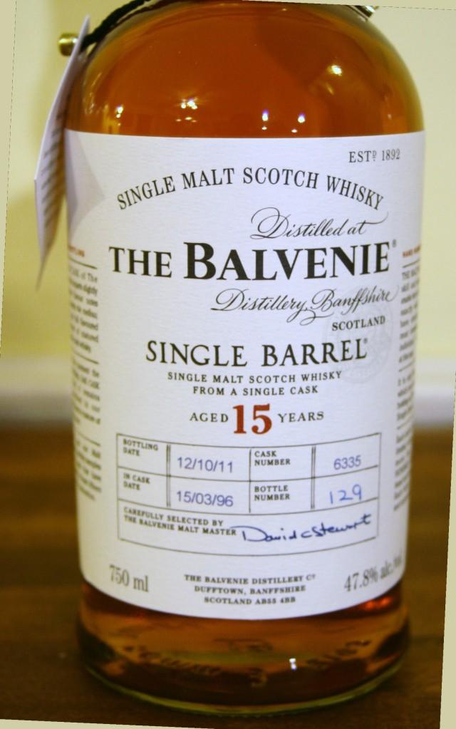 The Balvenie, Whisky de una malta de 15 anos de anejamiento