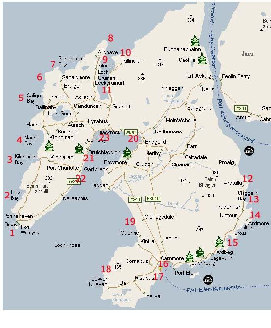 Mapa - Isla de Islay