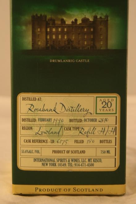 Douglas of Drumlanrig (añejado en una sola barrica) 20 años. Rosebank Distillery.